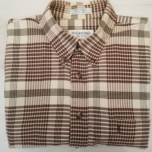 9ef83046a6f Yves Saint Laurent Shirts | Shadow Plaid Flannel Sz Large | Poshmark